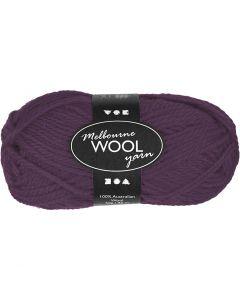 Pelote de laine Melbourne, L: 92 m, violet, 50 gr/ 1 boule