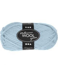 Pelote de laine Melbourne, L: 92 m, turquoise clair, 50 gr/ 1 boule