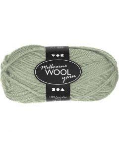 Pelote de laine Melbourne, L: 92 m, vert clair, 50 gr/ 1 boule
