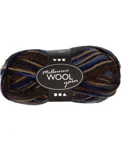 Pelote de laine Melbourne, L: 92 m, harmonie brun, 50 gr/ 1 boule