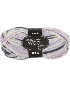 Pelote de laine Melbourne, L: 92 m, violet pastel, 50 gr/ 1 boule