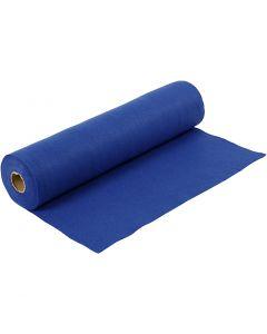 Feutrine synthétique, L: 45 cm, ép. 1,5 mm, 180-200 gr, bleu, 5 m/ 1 rouleau