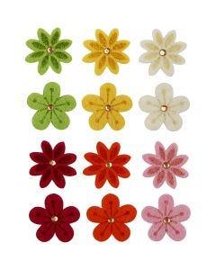 Fleurs en feutre, d: 30 mm, 120 pièce/ 1 Pq.