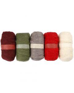 Pelotes de laine cardée, alizarin crimson hue (343), 5x100 gr/ 1 Pq.