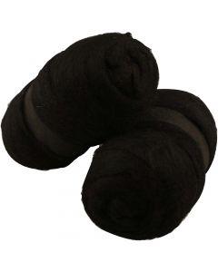 Laine cardée, noir, 2x100 gr/ 1 Pq.