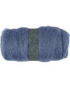 Pelote de laine cardée, bleu ciel, 100 gr/ 1 boule