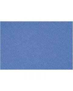 Feutrine synthétique, 42x60 cm, ép. 3 mm, bleu, 1 flles