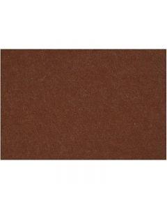 Feutrine synthétique, 42x60 cm, ép. 3 mm, brun, 1 flles
