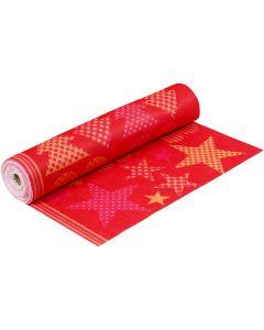 Feutre avec motifs, L: 45 cm, ép. 1,5 mm, 180-200 gr, orange, rouge, 5 m/ 1 rouleau