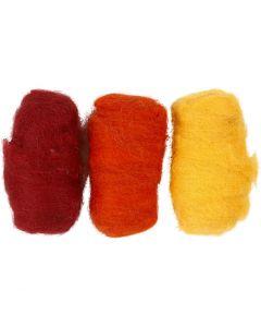 Pelotes de laine cardée, jaune pastel (32244), 3x10 gr/ 1 Pq.