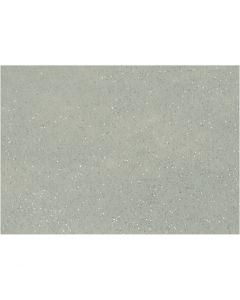 Feutrine synthétique, A4, 210x297 mm, ép. 1 mm, gris, 10 flles/ 1 Pq.