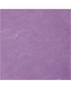 Feutrine synthétique, texturé, violet, 10 flles/ 1 Pq.