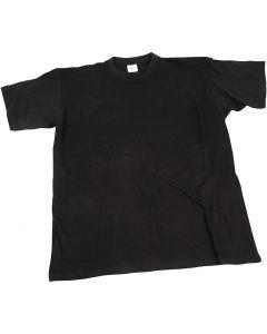 T-shirt, L: 40 cm, dim. 7-8 ans, col rond, noir, 1 pièce