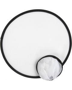 Frisbee, d: 25 cm, blanc, 5 pièce/ 1 Pq.