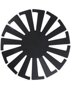 Forme tissage panier, H: 8 cm, d: 14 cm, noir, 10 pièce/ 1 Pq.