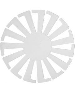 Forme tissage panier, H: 6 cm, d: 8 cm, transparent, 10 pièce/ 1 Pq.