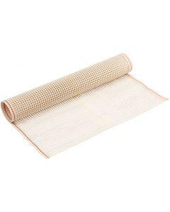 Tissu pour tissage, L: 50 cm, blanc cassé, 1 m/ 1 rouleau