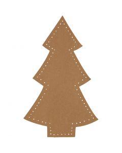 Sapin de Noël, H: 18 cm, L: 11 cm, 350 gr, naturel, 4 pièce/ 1 Pq.