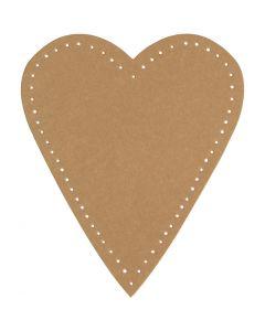 Coeur, H: 12 cm, L: 10 cm, 350 gr, naturel, 4 pièce/ 1 Pq.