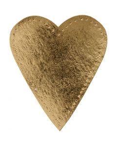 Coeur, H: 12 cm, L: 10 cm, 350 gr, or, 4 pièce/ 1 Pq.