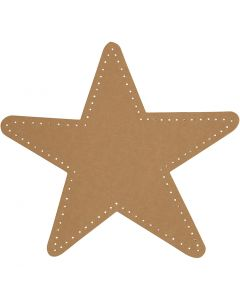 Étoile, d: 17 cm, 350 gr, naturel, 4 pièce/ 1 Pq.