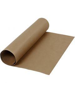Papier imitation cuir, L: 50 cm, unicolor, 350 gr, brun foncé, 1 m/ 1 rouleau