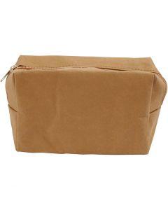 Trousse, dim. 16,5x6,5x10 cm, brun clair, 1 pièce
