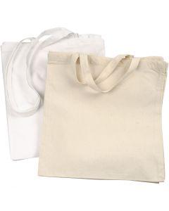 Sac à provisions, 135 gr, blanc, naturel clair, 2x10 pièce/ 1 Pq.