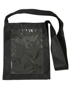 Sac personnalisables, dim. 40x34x8 cm, noir, 1 pièce