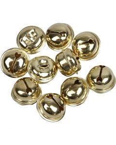 Clochettes, d: 13+15+17 mm, or, 12 ass./ 1 Pq.