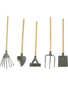 Outils de jardin, L: 11 cm, 5 pièce/ 1 Pq.