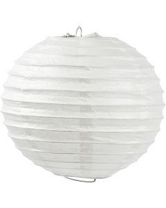 Abat-jour en papier, Rond, d: 35 cm, blanc, 1 pièce