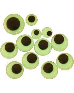 Yeux loucheurs, autocollant, d: 8+10+14 mm, 300 ass./ 1 Pq.