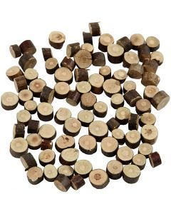 Mélange de bois, d: 7-10 mm, ép. 4-5 mm, 230 gr/ 1 Pq.