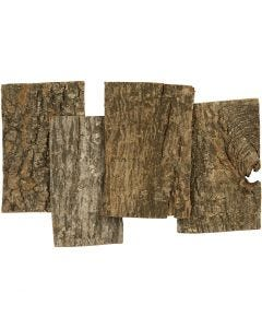 Plaques d'écorce, dim. 9,5x6,5 cm, ép. 1-4 mm, 340 gr/ 1 Pq.