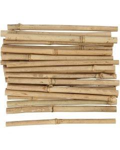 Bâton de bambou, L: 20 cm, ép. 8-15 mm, 30 pièce/ 1 Pq.