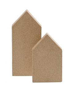 Maisons, H: 12,5+15 cm, 2 pièce/ 1 Pq.