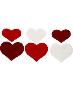 Coeurs, H: 35+40+50 mm, ép. 1,5 mm, 180-200 gr, 225 pièce/ 1 Pq.