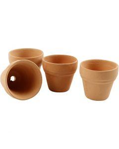Pots de fleurs, H: 3,1 cm, d: 3,4 cm, 48 pièce/ 1 boîte