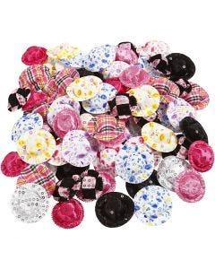 Mini-chapeaux, d: 4 cm, couleurs assorties, 100 pièce/ 1 Pq.