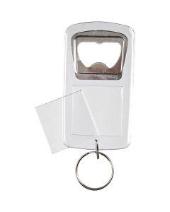 Porte-clés avec ouvre-bouteilles, dim. 8x4,5x0,5 cm, 5 pièce/ 1 Pq.
