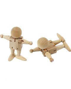 Bonshommes flexibles, H: 8 cm, 5 pièce/ 1 Pq.