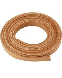 Bande de cuir, L: 10 mm, ép. 3 mm, naturel, 2 m/ 1 Pq.