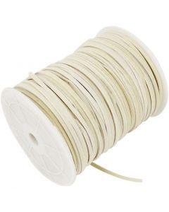 Cordon imitation daim, ép. 3 mm, beige, 100 m/ 1 rouleau
