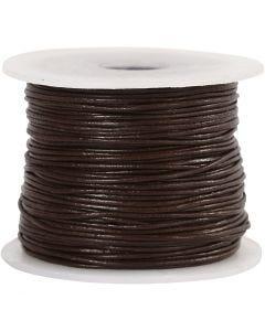 Corde de cuir, ép. 1 mm, brun, 50 m/ 1 rouleau