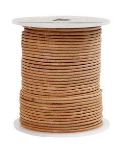 Corde de cuir, ép. 2 mm, 50 m/ 1 rouleau