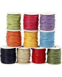 Ficelle coton, ép. 2 mm, couleurs franches, 10x25 m/ 1 Pq.