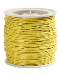 Ficelle coton, ép. 1 mm, jaune, 40 m/ 1 rouleau