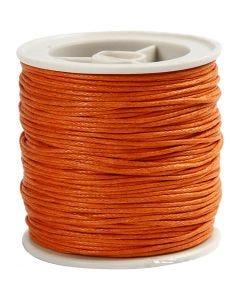 Ficelle coton, ép. 1 mm, orange, 40 m/ 1 rouleau