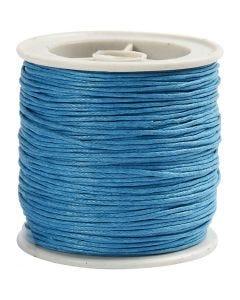 Ficelle coton, ép. 1 mm, turquoise, 40 m/ 1 rouleau
